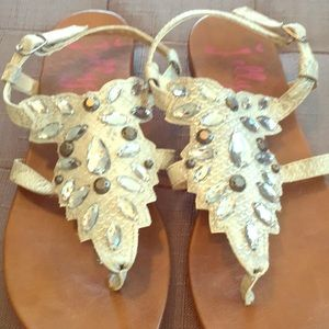 Jellypop silver/gray sandals